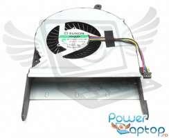 Cooler laptop Asus  G551VW Mufa 4 pini. Ventilator procesor Asus  G551VW. Sistem racire laptop Asus  G551VW