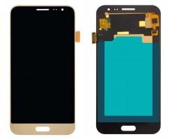 Ansamblu Display LCD + Touchscreen Samsung Galaxy J3 2016 J320P Gold Auriu Display OLED High Copy. Ecran + Digitizer Samsung Galaxy J3 2016 J320P Negru Black Display OLED High Copy