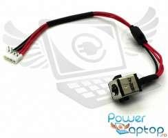 Mufa alimentare Toshiba Satellite P205D cu fir . DC Jack Toshiba Satellite P205D cu fir