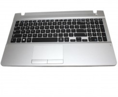 Tastatura Samsung  NP275E5W neagra cu Palmrest argintiu si TouchPad