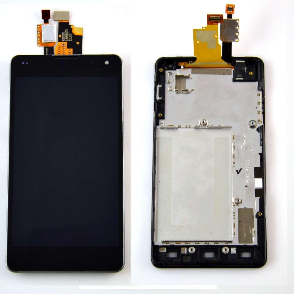 Display LG Optimus G E973 cu rama imagine