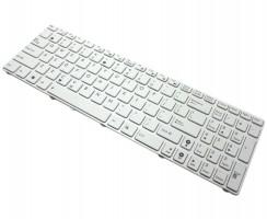Tastatura Asus  X54C SX118D alba. Keyboard Asus  X54C SX118D alba. Tastaturi laptop Asus  X54C SX118D alba. Tastatura notebook Asus  X54C SX118D alba