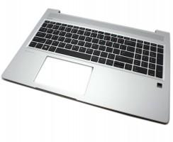 Tastatura HP ProBook 455R G6 Neagra cu Palmrest Argintiu. Keyboard HP ProBook 455R G6 Neagra cu Palmrest Argintiu. Tastaturi laptop HP ProBook 455R G6 Neagra cu Palmrest Argintiu. Tastatura notebook HP ProBook 455R G6 Neagra cu Palmrest Argintiu