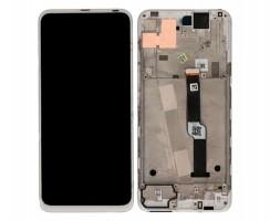 Display Motorola Moto One Fusion Plus Alb cu Rama