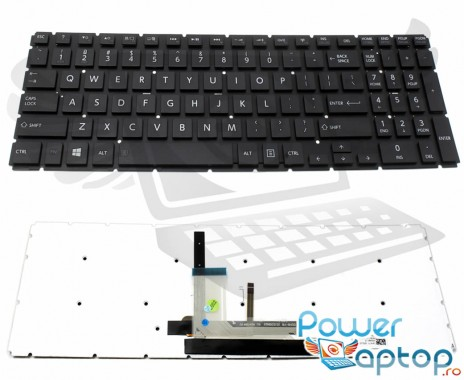 Tastatura Toshiba Radius P50W-B iluminata. Keyboard Toshiba Radius P50W-B. Tastaturi laptop Toshiba Radius P50W-B. Tastatura notebook Toshiba Radius P50W-B
