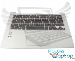 Tastatura Asus 9Z.N8JBU.601 neagra cu Palmrest argintiu si Touchpad. Keyboard Asus 9Z.N8JBU.601 neagra cu Palmrest argintiu  si Touchpad. Tastaturi laptop Asus 9Z.N8JBU.601 neagra cu Palmrest argintiu  si Touchpad. Tastatura notebook Asus 9Z.N8JBU.601 neagra cu Palmrest argintiu  si Touchpad
