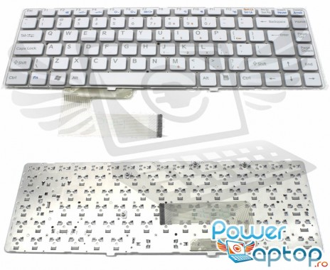 Tastatura Sony 148738321 alba. Keyboard Sony 148738321. Tastaturi laptop Sony 148738321. Tastatura notebook Sony 148738321