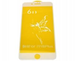 Folie Protectie 6D Full Cover Apple Iphone 8 Plus Alba