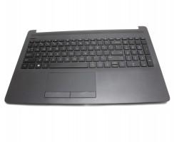 Tastatura HP 15-db neagra cu Palmrest negru. Keyboard HP 15-db neagra cu Palmrest negru. Tastaturi laptop HP 15-db neagra cu Palmrest negru. Tastatura notebook HP 15-db neagra cu Palmrest negru
