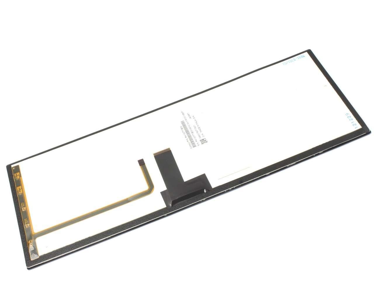 Tastatura Toshiba AEBU6F00010 FR Rama albastra iluminata backlit imagine powerlaptop.ro 2021