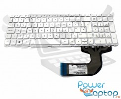 Tastatura HP  15-H alba. Keyboard HP  15-H. Tastaturi laptop HP  15-H. Tastatura notebook HP  15-H
