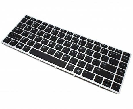 Tastatura HP ProBook 640 G5 Neagra cu Rama Argintie. Keyboard HP ProBook 640 G5 Neagra cu Rama Argintie. Tastaturi laptop HP ProBook 640 G5 Neagra cu Rama Argintie. Tastatura notebook HP ProBook 640 G5 Neagra cu Rama Argintie