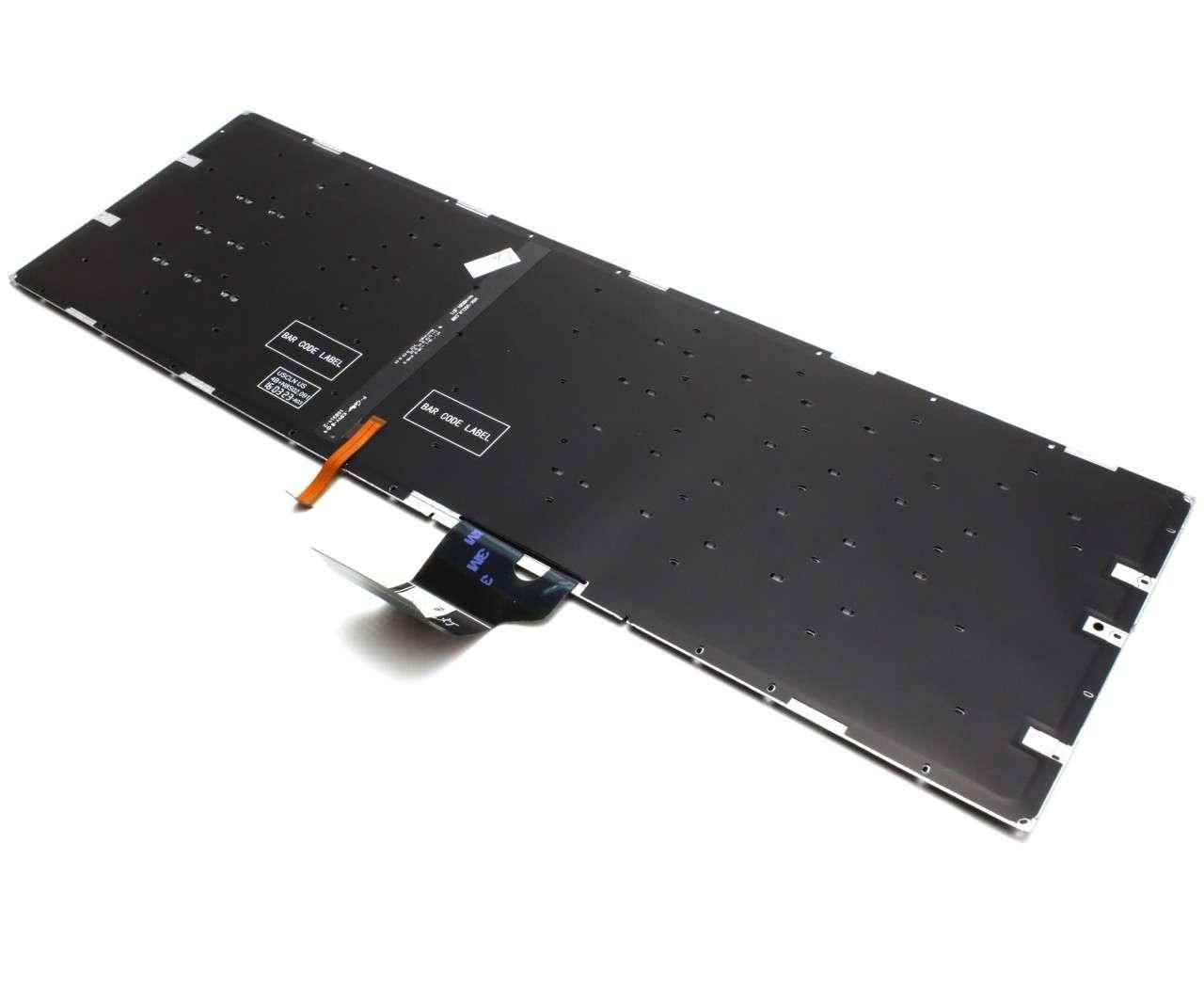Tastatura Asus GL702ZC iluminata layout US fara rama enter mic imagine