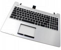 Tastatura Asus  0KN0-N31US13 neagra cu Palmrest argintiu. Keyboard Asus  0KN0-N31US13 neagra cu Palmrest argintiu. Tastaturi laptop Asus  0KN0-N31US13 neagra cu Palmrest argintiu. Tastatura notebook Asus  0KN0-N31US13 neagra cu Palmrest argintiu