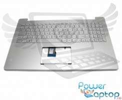 Tastatura Asus Rog G501J argintie cu Palmrest argintiu iluminata backlit. Keyboard Asus Rog G501J argintie cu Palmrest argintiu. Tastaturi laptop Asus Rog G501J argintie cu Palmrest argintiu. Tastatura notebook Asus Rog G501J argintie cu Palmrest argintiu