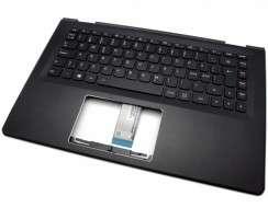 Tastatura Lenovo Yoga 500-14IHW Neagra cu Palmrest negru iluminata backlit. Keyboard Lenovo Yoga 500-14IHW Neagra cu Palmrest negru. Tastaturi laptop Lenovo Yoga 500-14IHW Neagra cu Palmrest negru. Tastatura notebook Lenovo Yoga 500-14IHW Neagra cu Palmrest negru