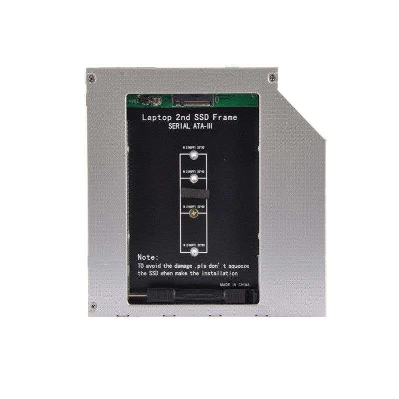 HDD Caddy laptop 9.5mm intern M2 NGFF SSD extern SATA imagine powerlaptop.ro 2021