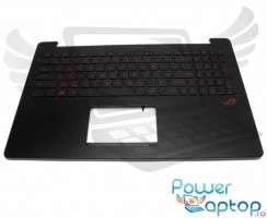 Tastatura Asus 90NB0871-R32UI0 neagra cu Palmrest negru iluminata backlit. Keyboard Asus 90NB0871-R32UI0 neagra cu Palmrest negru. Tastaturi laptop Asus 90NB0871-R32UI0 neagra cu Palmrest negru. Tastatura notebook Asus 90NB0871-R32UI0 neagra cu Palmrest negru