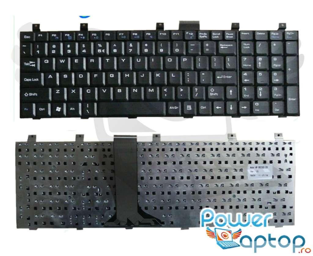 Tastatura MSI MS 16332 neagra imagine powerlaptop.ro 2021