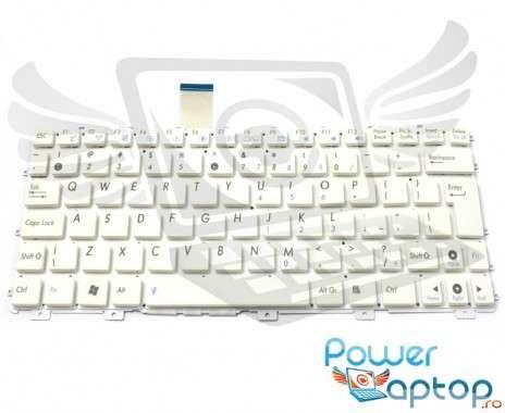 Tastatura Asus Eee PC 1011BX alba. Keyboard Asus Eee PC 1011BX. Tastaturi laptop Asus Eee PC 1011BX. Tastatura notebook Asus Eee PC 1011BX