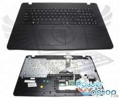 Tastatura Asus  X751L neagra cu Palmrest negru. Keyboard Asus  X751L neagra cu Palmrest negru. Tastaturi laptop Asus  X751L neagra cu Palmrest negru. Tastatura notebook Asus  X751L neagra cu Palmrest negru
