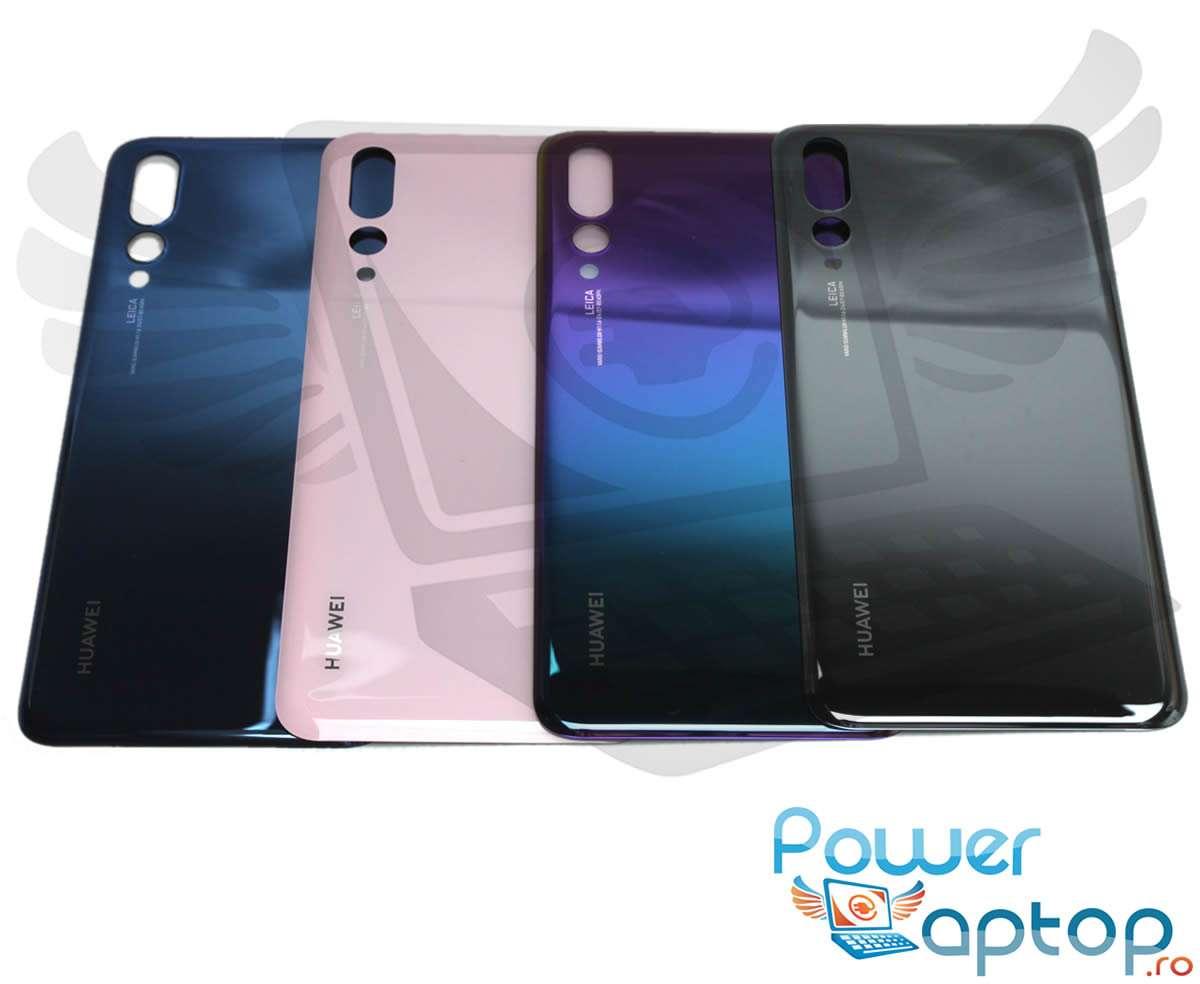 Capac Baterie Huawei P20 Pro Albastru Midnight Black Capac Spate imagine powerlaptop.ro 2021