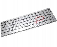 Tastatura HP  665937 041 Argintie. Keyboard HP  665937 041. Tastaturi laptop HP  665937 041. Tastatura notebook HP  665937 041