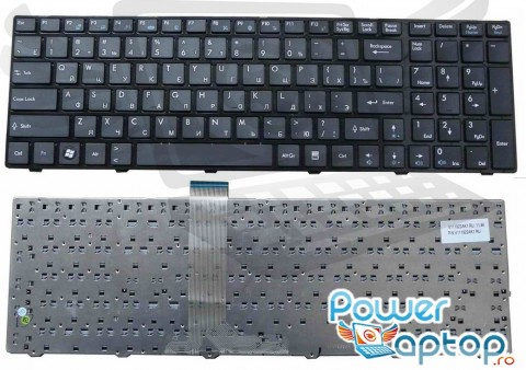 Tastatura MSI  CR620-1058XEU. Keyboard MSI  CR620-1058XEU. Tastaturi laptop MSI  CR620-1058XEU. Tastatura notebook MSI  CR620-1058XEU