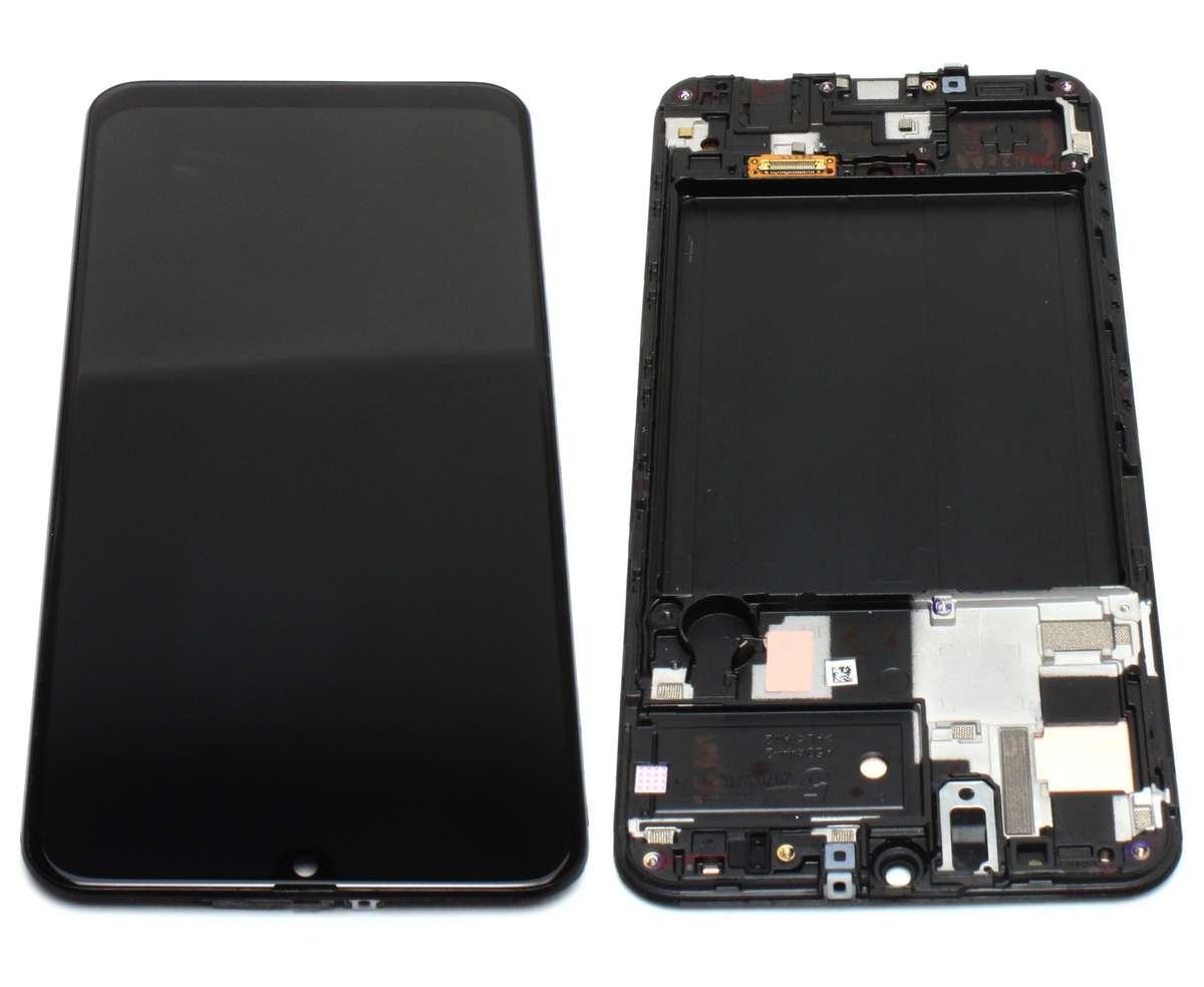 Display Samsung Galaxy A50 A505 AMOLED Service Pack Original Black Negru imagine powerlaptop.ro 2021