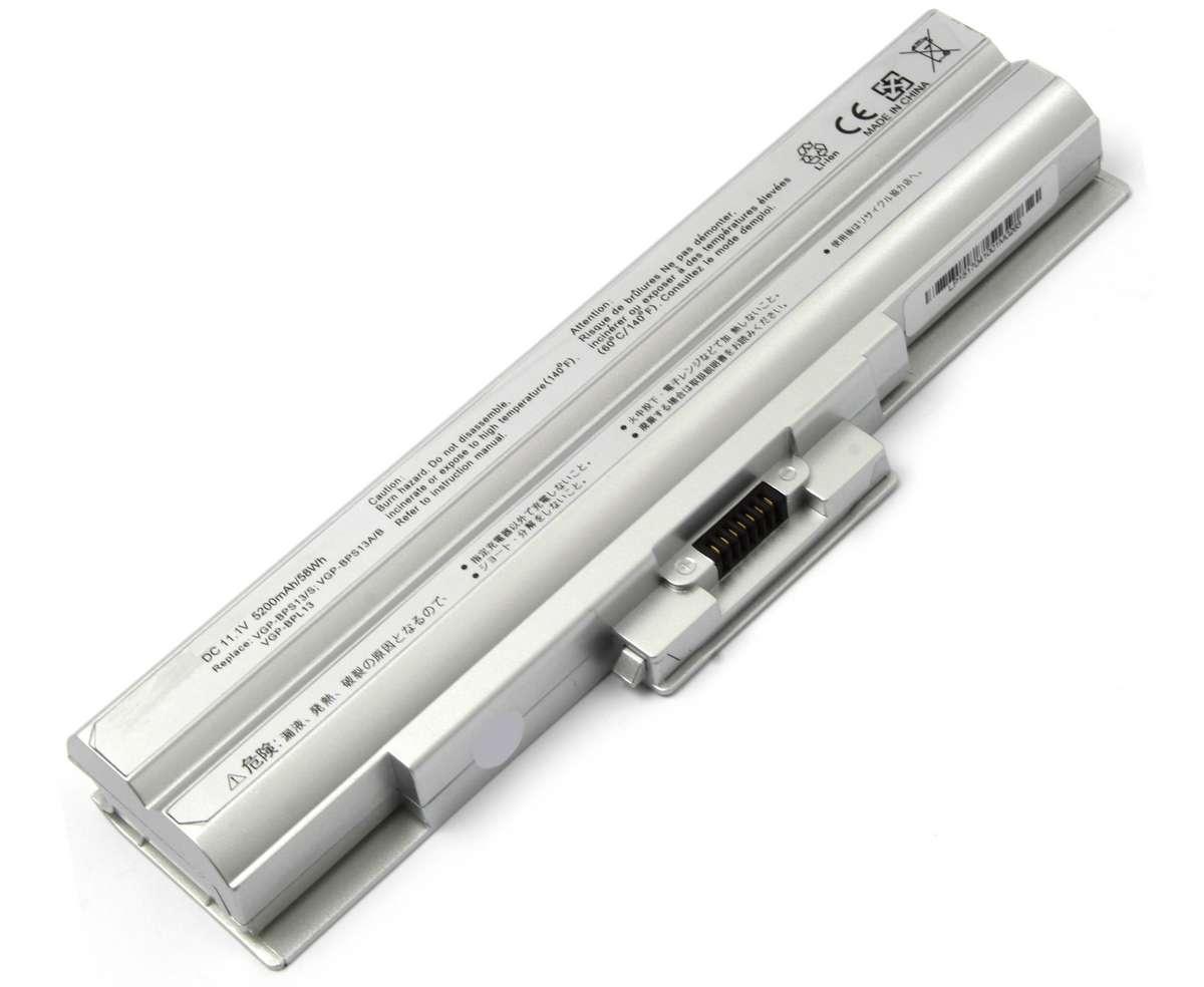 Baterie Sony Vaio VPCS13A7E argintie imagine powerlaptop.ro 2021