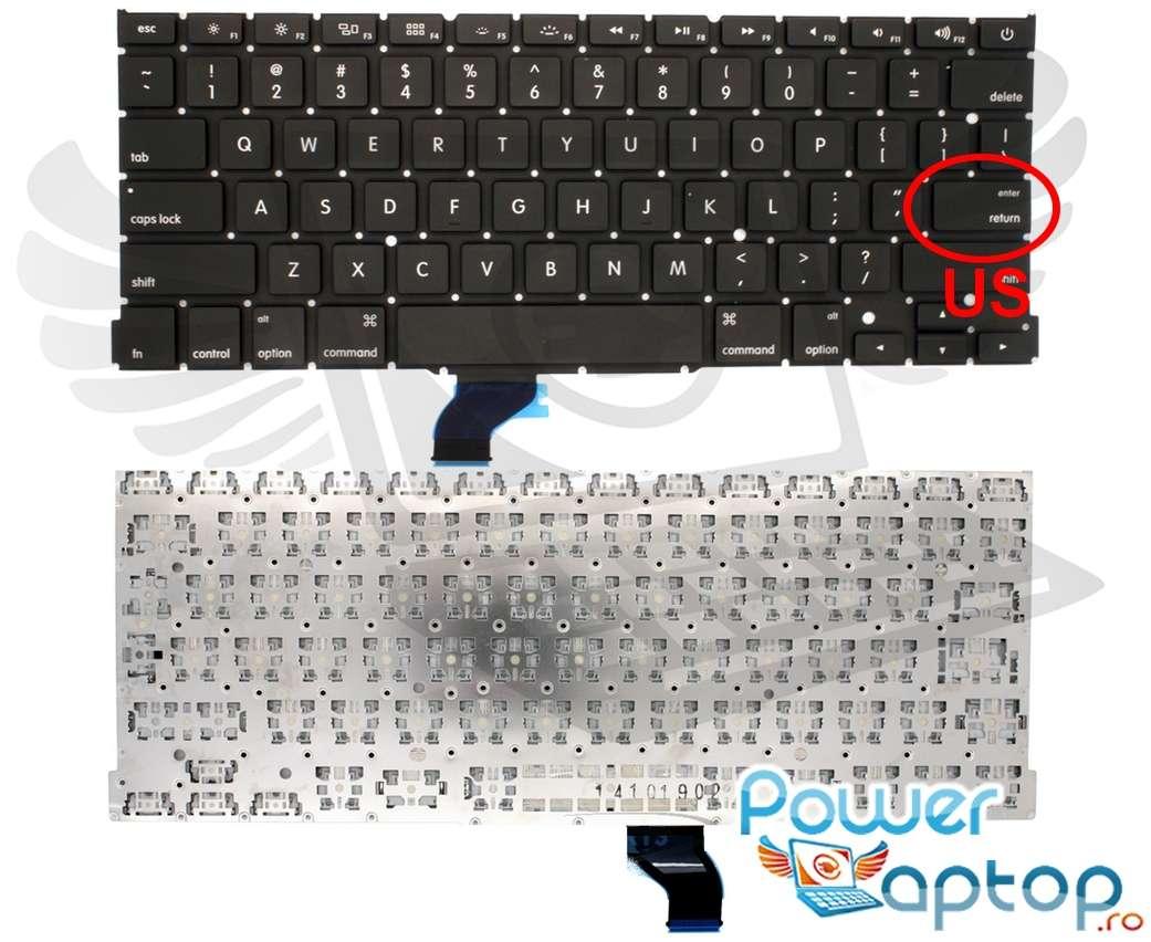 Tastatura Apple MacBook Pro 13 A1502 MG72 layout US fara rama enter mic imagine