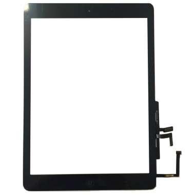 Digitizer Touchscreen Apple iPad 5 A1822 cu buton home si adeziv Negru. Geam Sticla Tableta Apple iPad 5 A1822 cu buton home si adeziv Negru