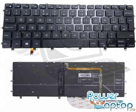 Tastatura Dell XPS 13 9360 iluminata. Keyboard Dell XPS 13 9360. Tastaturi laptop Dell XPS 13 9360. Tastatura notebook Dell XPS 13 9360