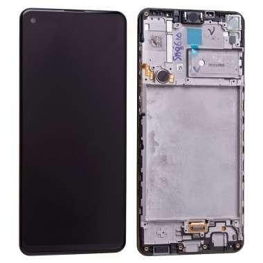 Ansamblu Display LCD + Touchscreen Original Service Pack Silver Samsung Galaxy A21S A217F Black Negru. Ecran + Digitizer Original Service Pack Silver Samsung Galaxy A21S A217F Black Negru
