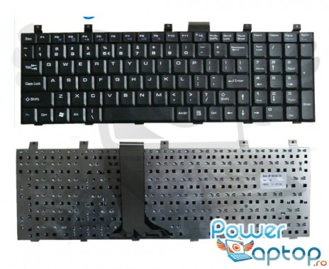 Tastatura MSI CX700  neagra. Keyboard MSI CX700  neagra. Tastaturi laptop MSI CX700  neagra. Tastatura notebook MSI CX700  neagra