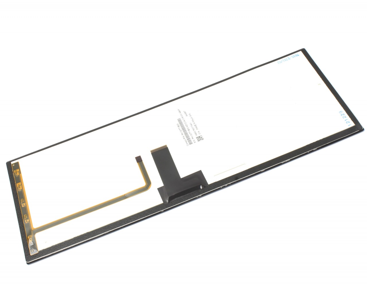 Tastatura Toshiba AEBU6E00020 EN Rama albastra iluminata backlit imagine powerlaptop.ro 2021