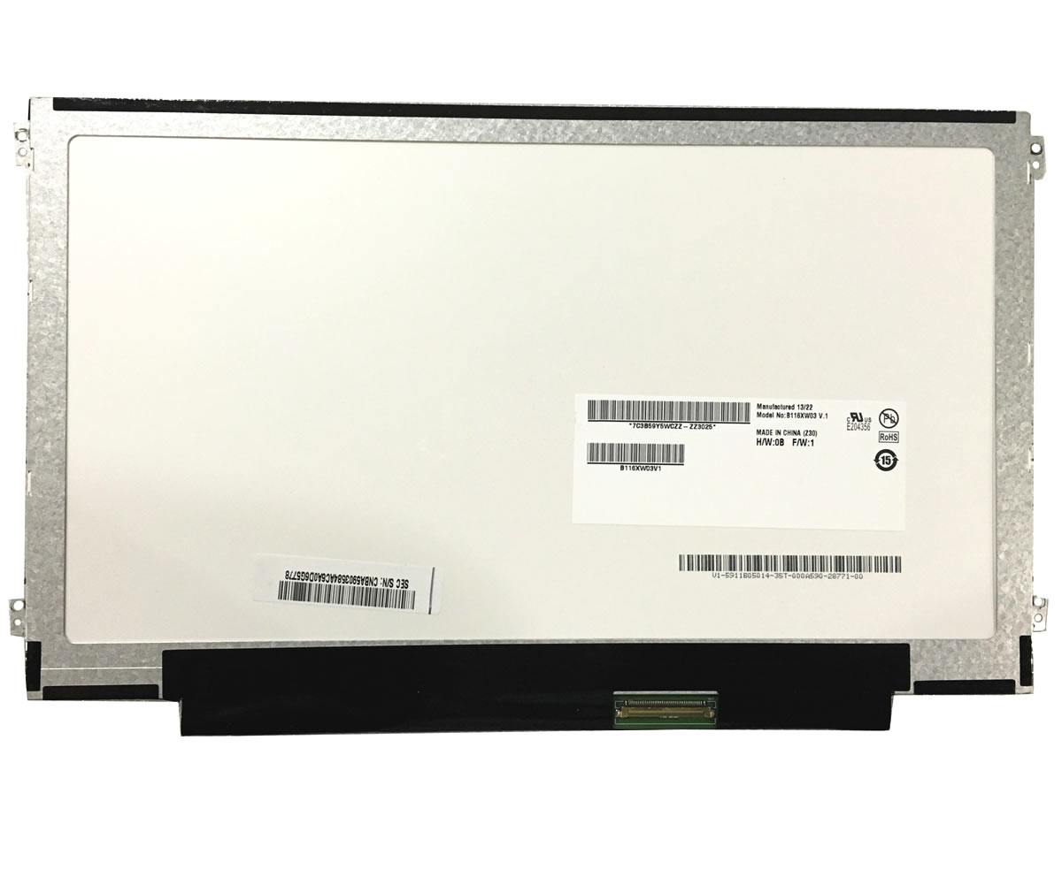 Display laptop Toshiba Satellite NB10 Ecran 11.6 1366x768 40 pini led lvds imagine powerlaptop.ro 2021
