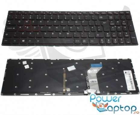 Tastatura Lenovo  PK130ZF2A10 iluminata. Keyboard Lenovo  PK130ZF2A10. Tastaturi laptop Lenovo  PK130ZF2A10. Tastatura notebook Lenovo  PK130ZF2A10