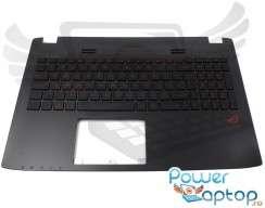 Tastatura Asus  GL552VX cu Palmrest negru iluminata backlit. Keyboard Asus  GL552VX cu Palmrest negru. Tastaturi laptop Asus  GL552VX cu Palmrest negru. Tastatura notebook Asus  GL552VX cu Palmrest negru