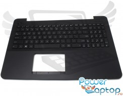 Tastatura Asus  A555LD cu Palmrest negru. Keyboard Asus  A555LD cu Palmrest negru. Tastaturi laptop Asus  A555LD cu Palmrest negru. Tastatura notebook Asus  A555LD cu Palmrest negru