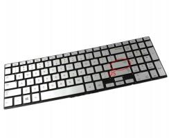 Tastatura Samsung  N220 argintie iluminata. Keyboard Samsung  N220. Tastaturi laptop Samsung  N220. Tastatura notebook Samsung  N220
