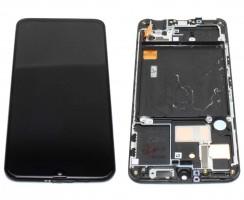 Ansamblu Display LCD + Touchscreen Samsung Galaxy A40 A405F OLED Service Pack Original Negru Black Negru . Ecran + Digitizer Samsung Galaxy A40 A405F OLED Service Pack Original Negru Black