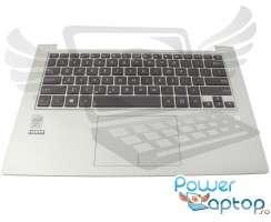 Tastatura Asus NSK-UQ101 neagra cu Palmrest argintiu si Touchpad. Keyboard Asus NSK-UQ101 neagra cu Palmrest argintiu  si Touchpad. Tastaturi laptop Asus NSK-UQ101 neagra cu Palmrest argintiu  si Touchpad. Tastatura notebook Asus NSK-UQ101 neagra cu Palmrest argintiu  si Touchpad