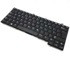Tastatura Dell 0RN86F Neagra iluminata backlit. Keyboard Dell 0RN86F Neagra. Tastaturi laptop Dell 0RN86F Neagra. Tastatura notebook Dell 0RN86F Neagra