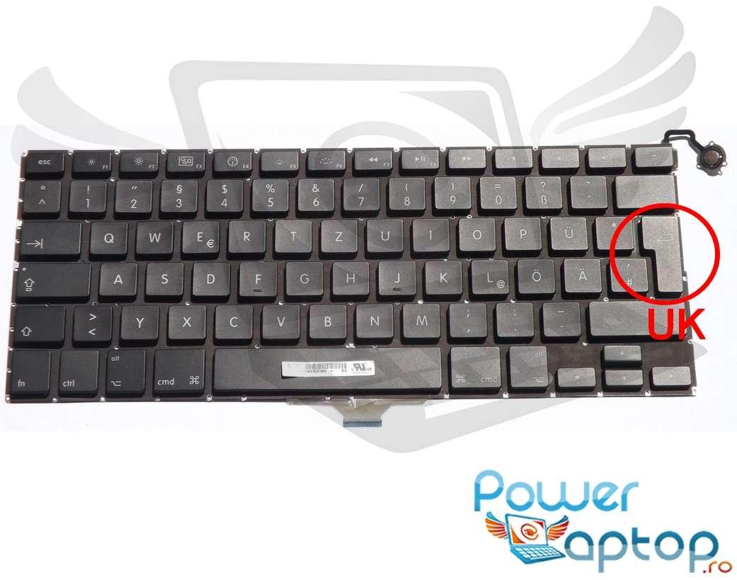 Tastatura Apple MacBook Air 13 A1304 layout UK fara rama enter mare imagine
