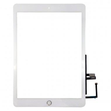 Digitizer Touchscreen Apple iPad 6 A1954 cu buton home si adeziv Alb . Geam Sticla Tableta Apple iPad 6 A1954 cu buton home si adeziv Alb
