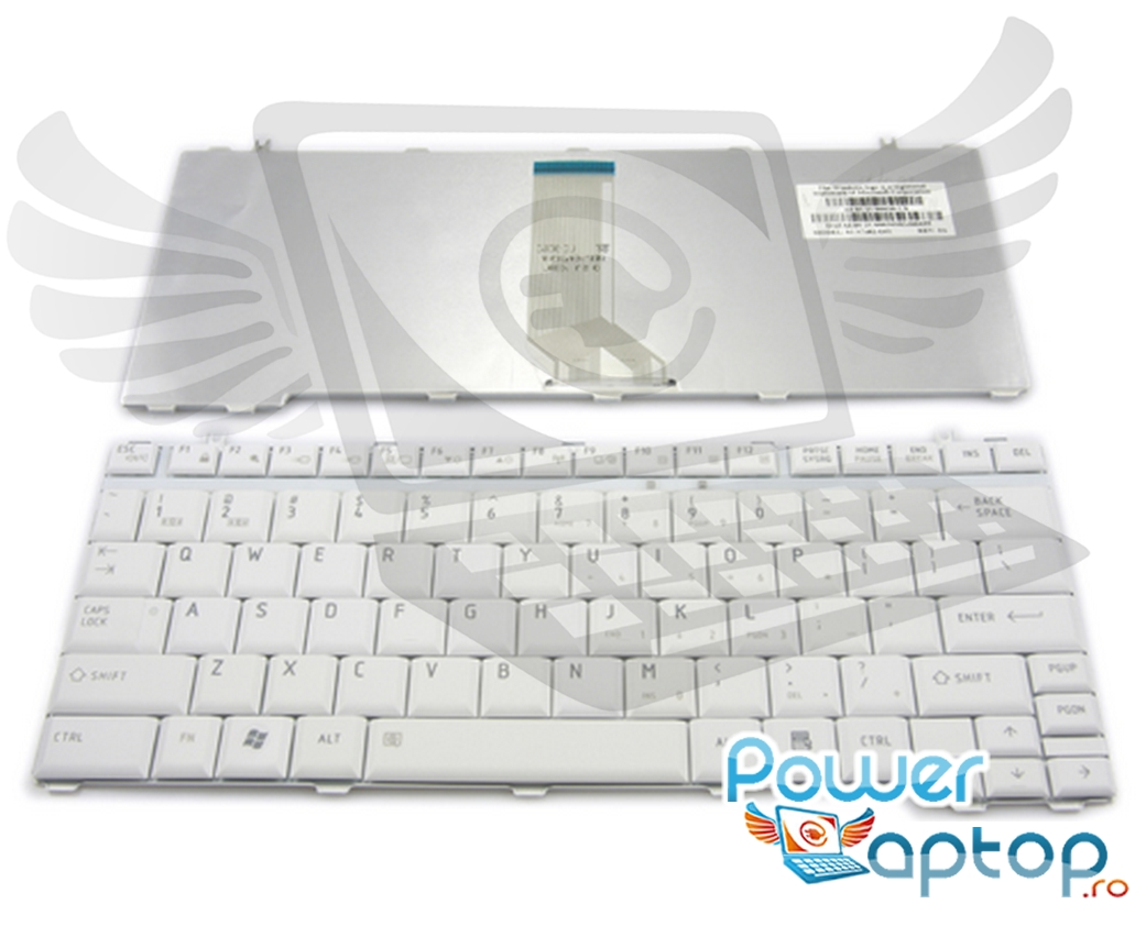 Tastatura Toshiba Portege A602 alba imagine powerlaptop.ro 2021