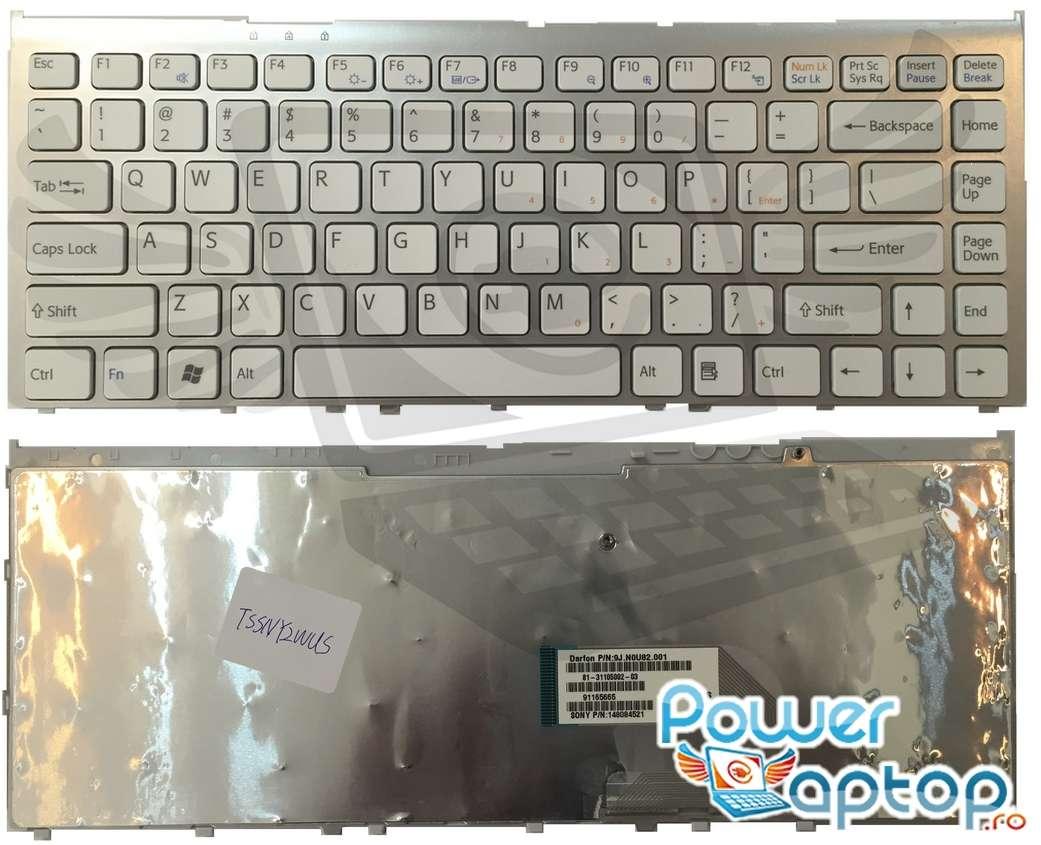 Tastatura Sony Vaio VGN FW92JS alba imagine powerlaptop.ro 2021