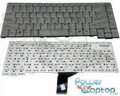 Tastatura Fujitsu Siemens  L7310 argintie. Keyboard Fujitsu Siemens  L7310 argintie. Tastaturi laptop Fujitsu Siemens  L7310 argintie. Tastatura notebook Fujitsu Siemens  L7310 argintie