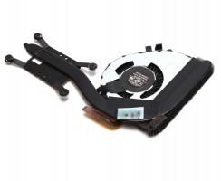 Cooler laptop Lenovo 00HN812 cu heatpipe. Ventilator procesor Lenovo 00HN812. Sistem racire laptop Lenovo 00HN812